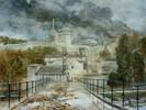 Pflastersteine, Pfütze, Regen, Avignon