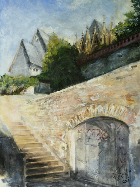 Wetzlar, Altstadt, Dom, Graffiti, Malerei