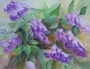 Flieder, Blumen, Sommer, Aquarell