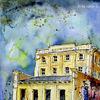 Aquarellmalerei, Industrie, Haus häusser, Gemälde