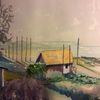 Landschaft, Aquarellmalerei, Schweden, Aquarell