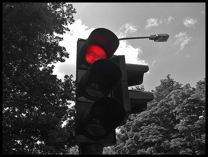 Ampel, Fotografie, Rot,