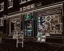 Stadt, Gebäude, Digitale kunst, Architektur