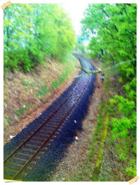 Schiene, Weg, Ort, Fotografie