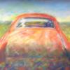 Altes fahrzeug, Rostiges auto, Oranges auto, Altes auto