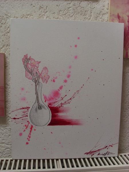 Liebe, Spitzer, Vase, Blumen, Zeichnungen, Pflanzen