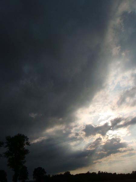 Wolken, Baum, Licht, Fotografie
