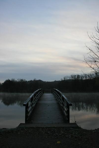 Wasser, Brücke, Früh, Himmel, Fotografie