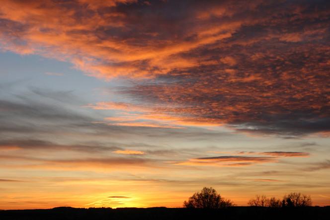 Wolken, Baum, Himmel, Sonnenuntergang, Fotografie