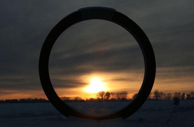 Schnee, Früh, Ring, Sonne, Metall, Feld