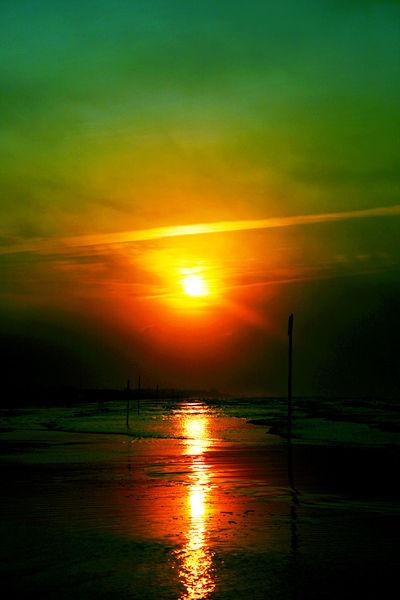 Sonne, Wasser, Morgen, Italien, Licht, Salz