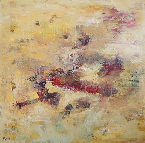 Landschaft, Fantasie, Handgemaltes, Gelb, Abstrakt, Weit