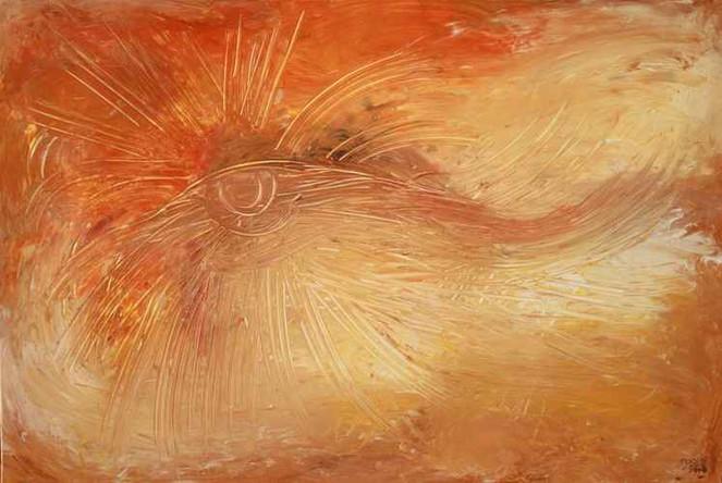 Malerei, Abstrakt, Sonne, 2008, Tagebuch