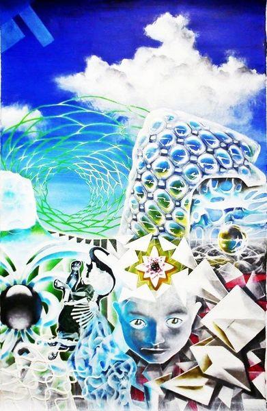 Verbundenheit, Elefant, Universum, Malerei,