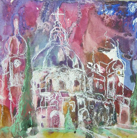 Ettal, Abstrakt, Kloster, Gebäude, Landschaft, Herbst