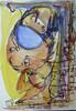 Verstrickung, Blau, Figur, Gelb