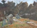 Landschaft, Stein, Ölmalerei, Malerei