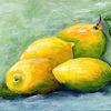 Zitrone, Gelb, Malerei,