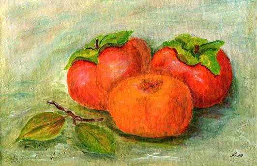 Orange, Kaki, Malerei,