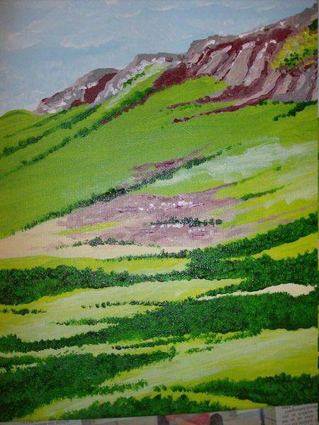 Landschaft, Berge, Quiraing, Isle of skye, Schottland, Malerei