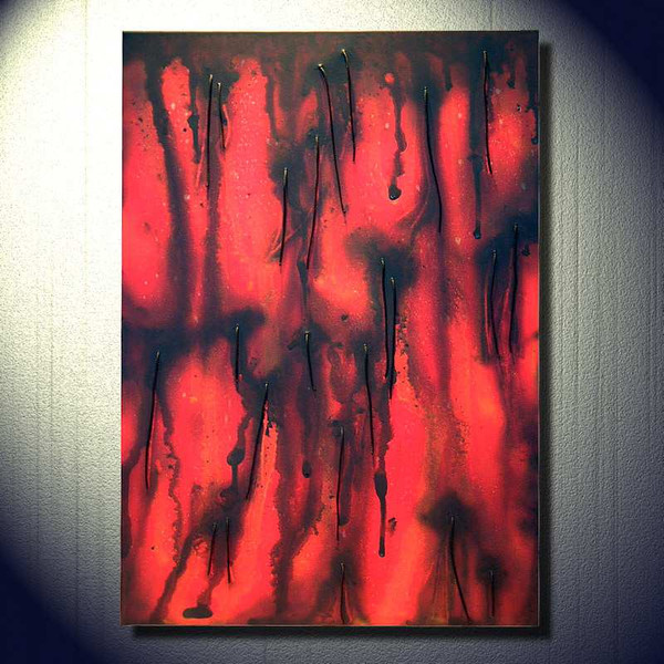 Malerei, Materialbilder, Abstrakt
