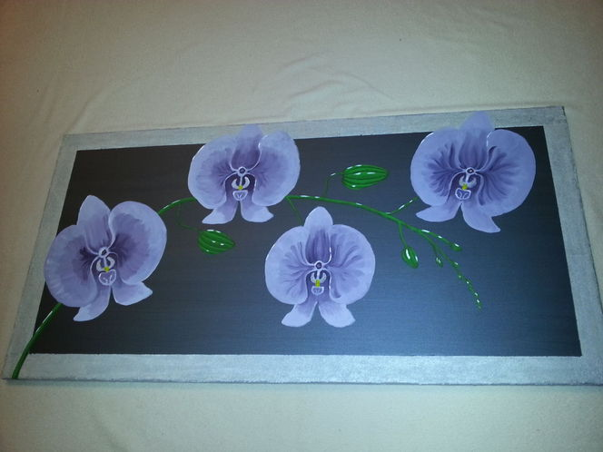 Orchidee, Malen, Blumen, Acrylmalerei, Malerei, Pflanzen