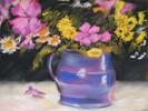 Pastellmalerei, Stillleben, Blumen, Malerei