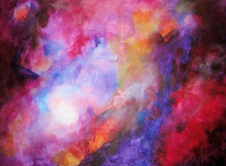 Acrylmalerei, Farbnebel, Malerei,