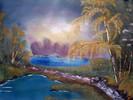 Weg, Landschaft, Wasser, Baum