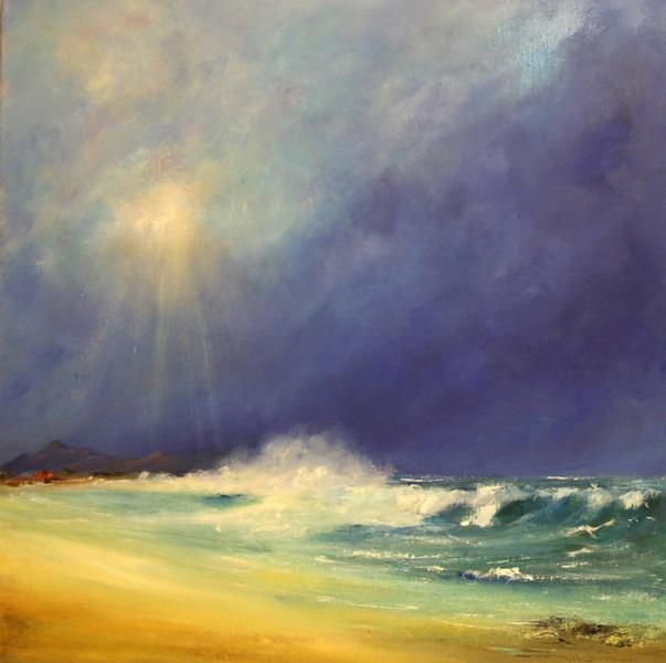 Welle, Ozean, Strand, Sturm, Malerei, Angel