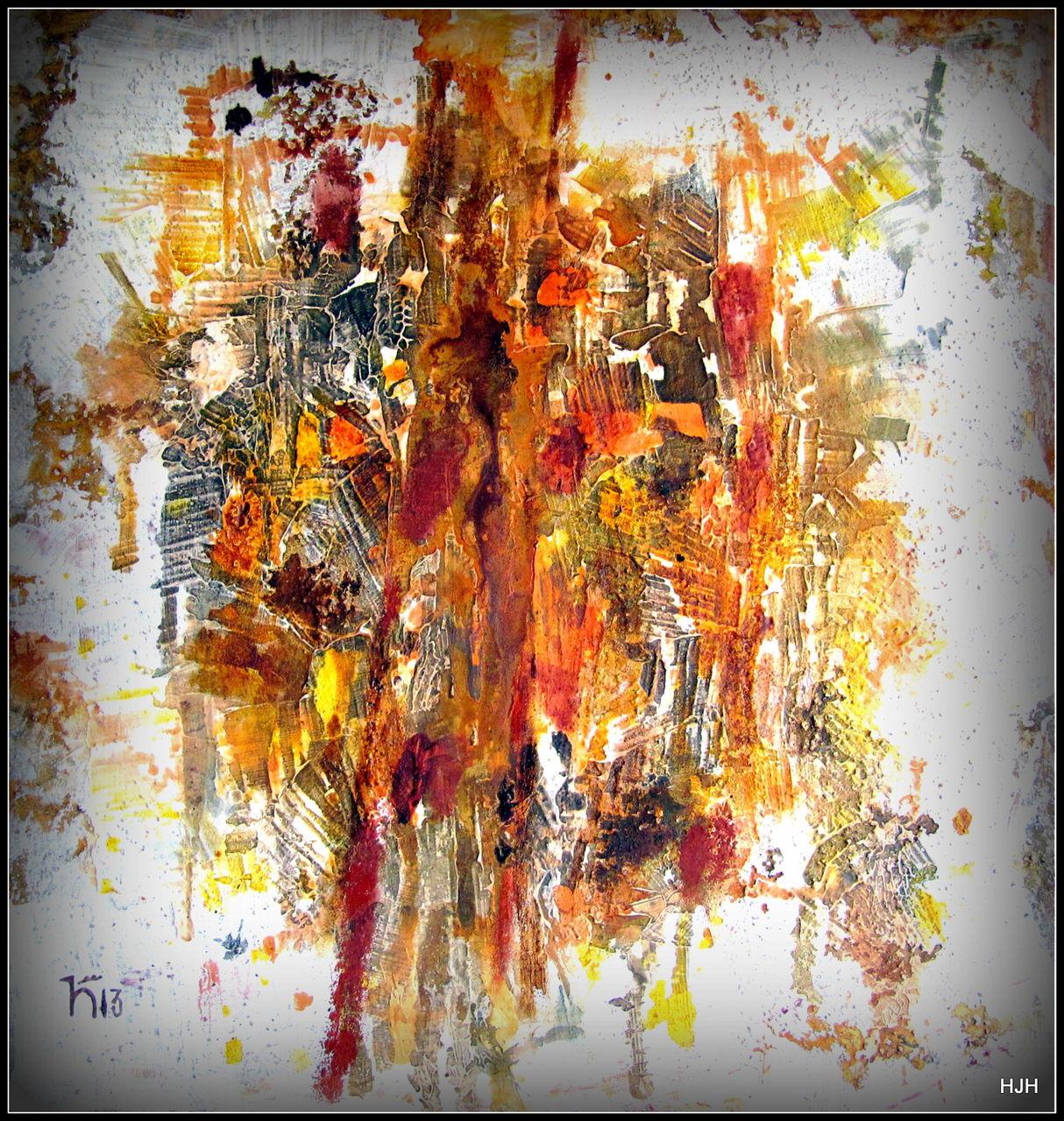 Bild Malerei, Abstrakt, Fallende, Blätter von hermann hirschberger bei KunstNet ~ 01120309_Blätter Von Sukkulenten Fallen Ab