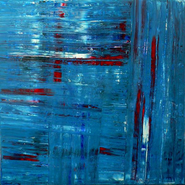 Abstrakt, Spachteltechnik, Blau, Expressionismus, Malerei