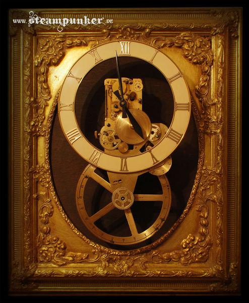 Steampunk, Pendeluhr, Clockworker, Uhrwerk, Mechanik, Wanduhr