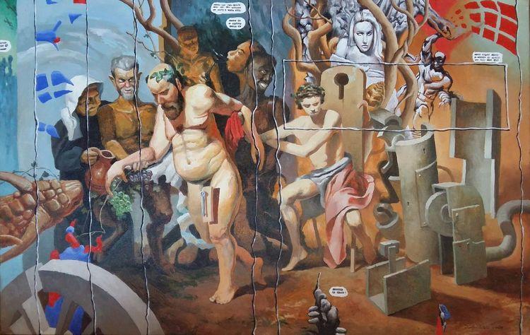 Wand, Malerei, 2015,