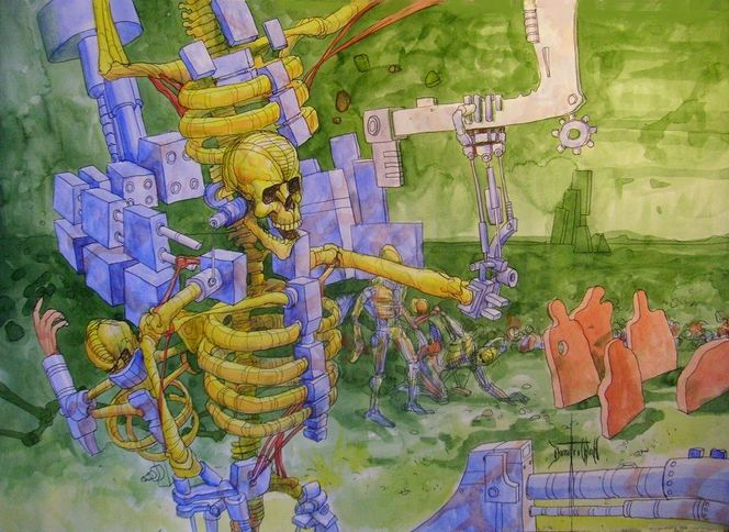 Skizze, 抽象画, Europa, Malerei, Surreal,