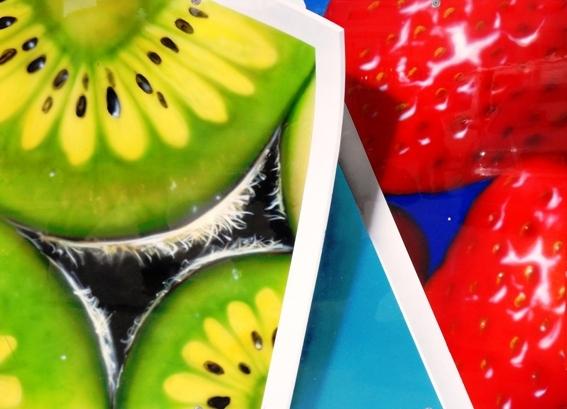 Airbrush, Früchte, Stillleben, Malerei, Kiwi