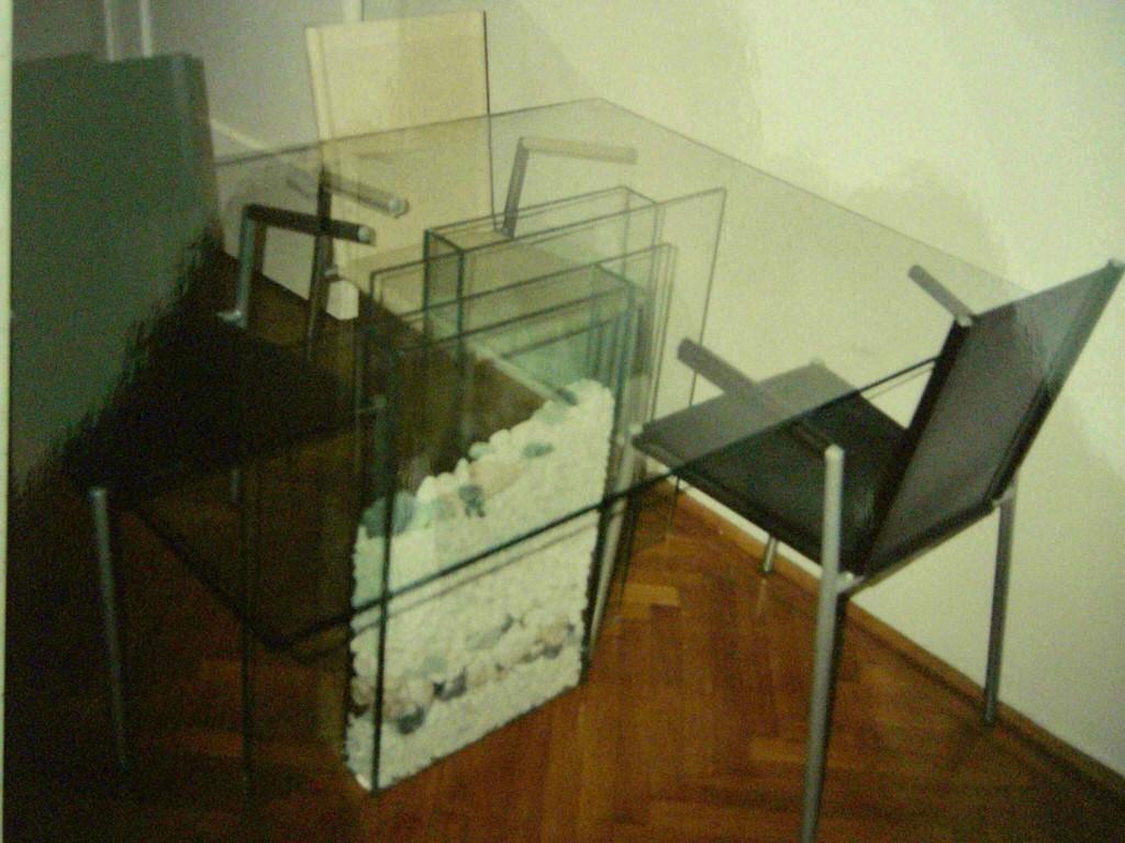 Gruppe glas stein 1 tisch design m bel gruppe tisch for Design tisch glas