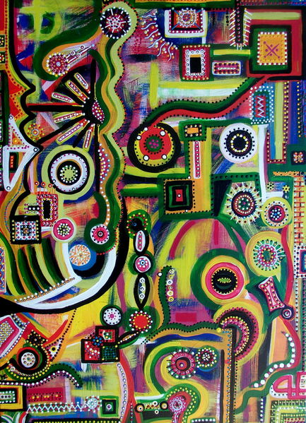 Welt, Freude, Tanz, Farben, Zukunft, Malerei