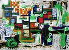 Malerei, Abstrakt, Garten