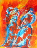 Malerei, Abstrakt, Mönch, Braut