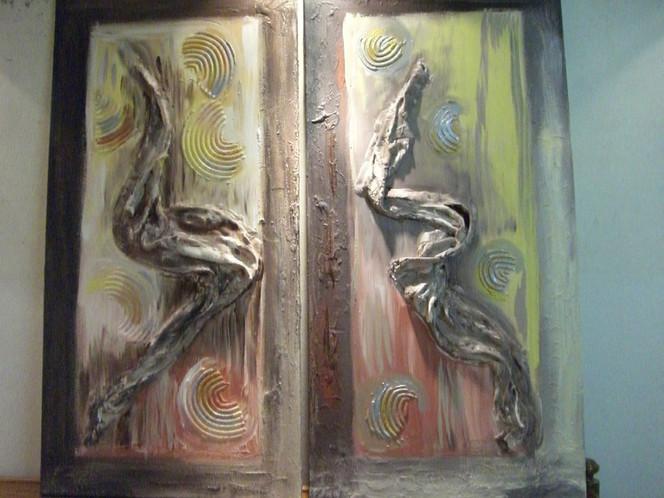 Braun, Malerei, Abstrakt