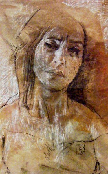 Grafik, Emotion, Portrait, Menschen, Malerei, Ausdruck