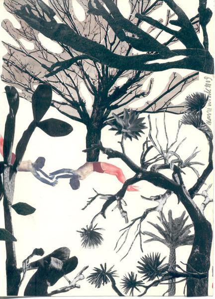 Baum, Figur, Garten, Fotografie, Surreal