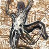 Figur, Stadt, Architektur, Zeichnungen