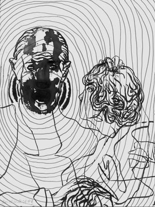 Figur, Sänger, Familie, Zeichnungen, Surreal, Vater
