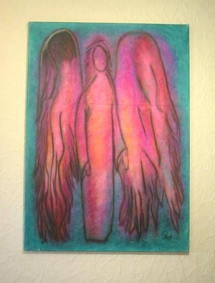 Engel, Pastellmalerei, Energiebild, Malerei,