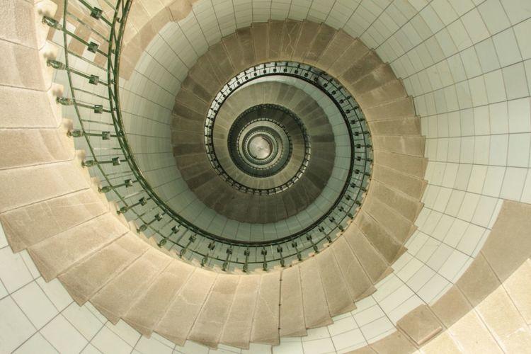 Bretagne, Leuchtturmtreppe, Fotografie,