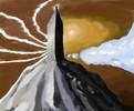 Berge, Gemusoft, Zwielicht, Wolken