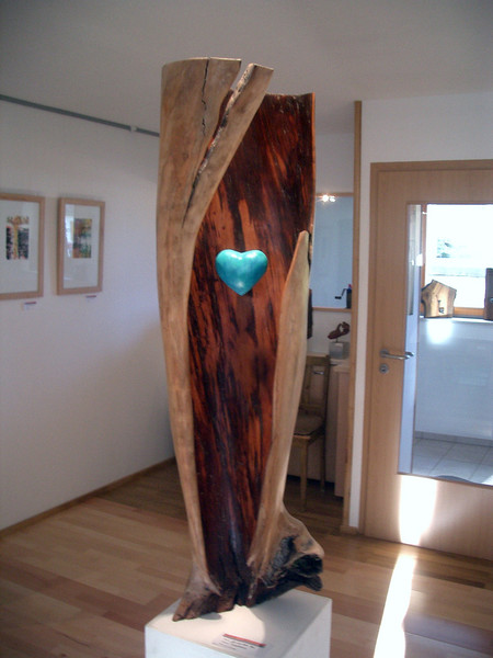 Kirschbaum, Herz, Keramik, Kunsthandwerk, Holz