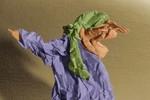 Kopftuch, Origami, Frau, Drache